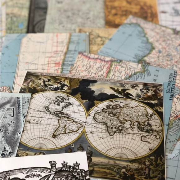 MAP Paper 20PC Ephemera, Craft ATLAS, Scrapbook